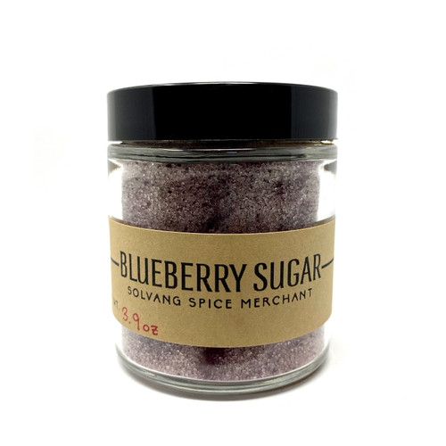 1/2 Cup Jar of Blueberry Sugar