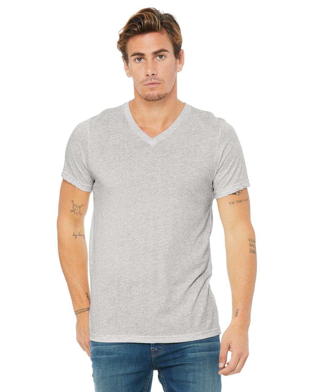 aba681768 Bella + Canvas 3415C Unisex Triblend Short-Sleeve V-Neck T-Shirt -  ClothingAuthority.com