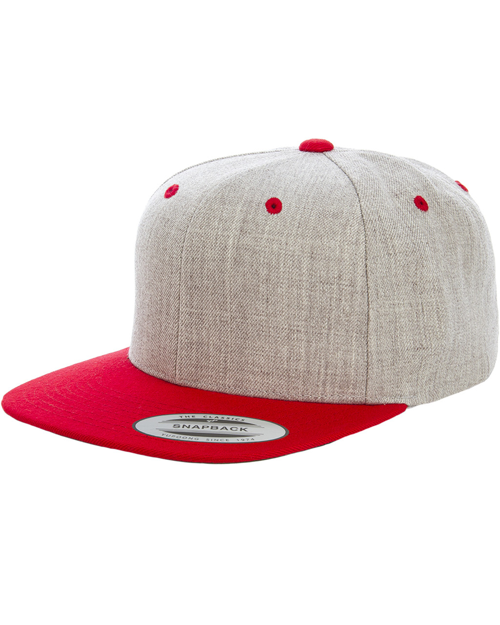 c0db33ff7cacc6 Yupoong 6089MT Adult 6-Panel Structured Flat Visor Classic Two-Tone  Snapback - ClothingAuthority.com