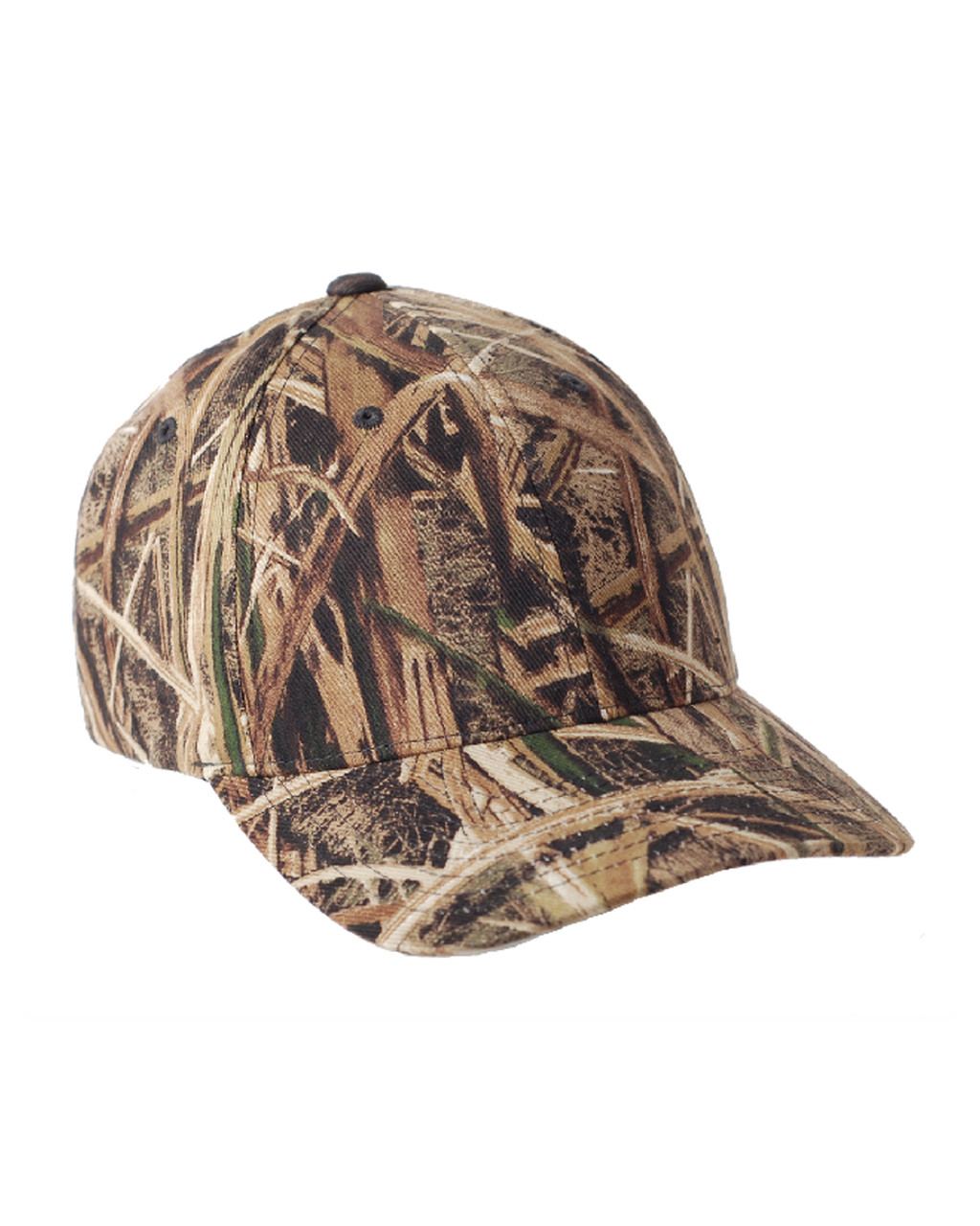 Fitted Baseball Hat Stretch Mesh Cap 6911 2 Colors Flexfit Mossy Oak Camo