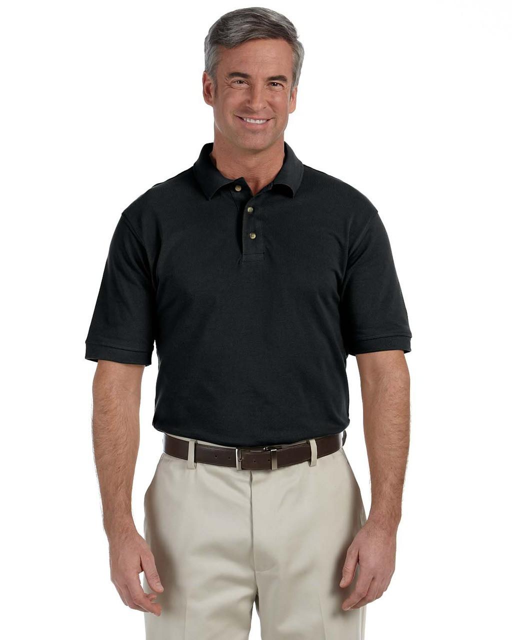 Harriton Youth Ringspun Cotton Piqu/é Short-Sleeve Polo