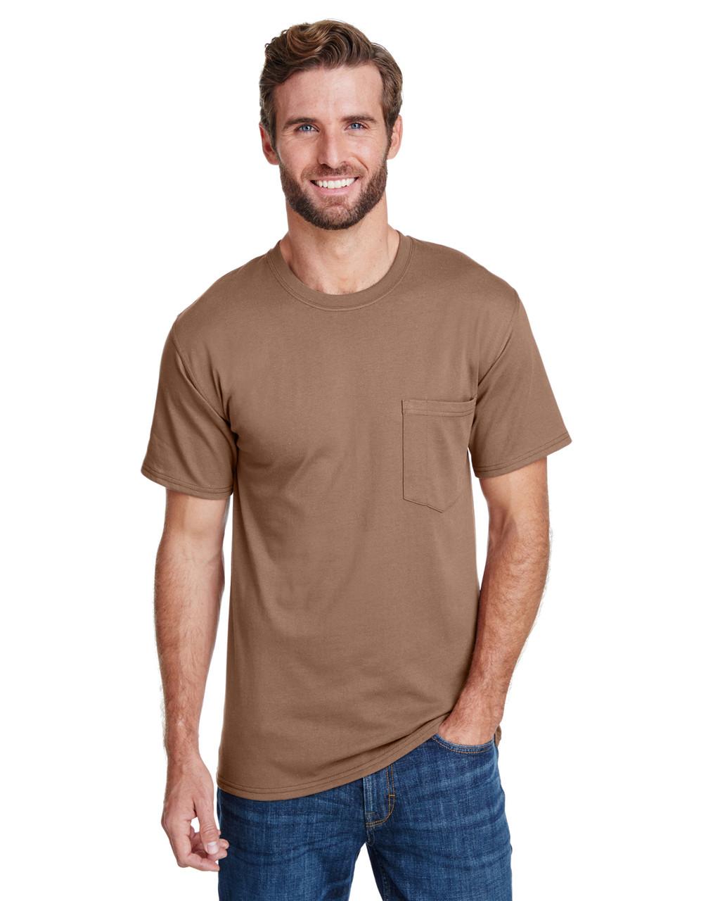 c10505c5 Hanes W110 Adult Workwear Pocket T-Shirt - ClothingAuthority.com