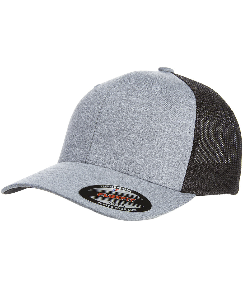 8a800446 Flexfit Y6311 Adult Poly Mélange Stretch Mesh Cap - ClothingAuthority.com