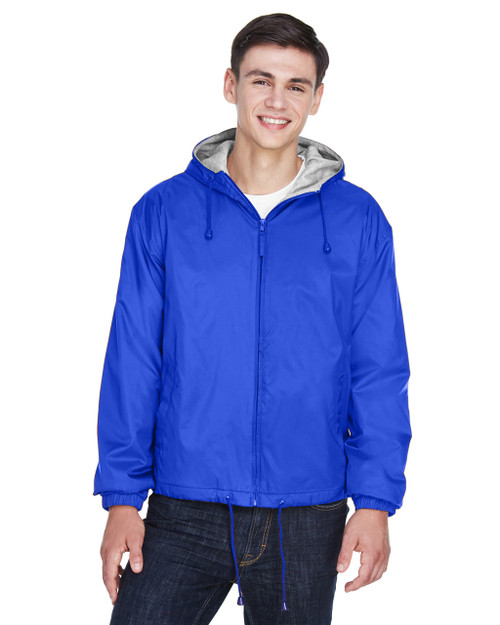 8915 UltraClub Adult Fleece-Lined Hooded Jacket