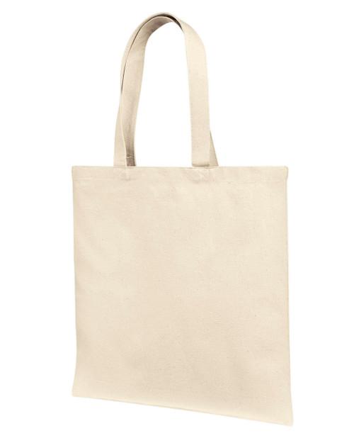 461b3aa9111 Liberty Bags LB85113 12 oz., Cotton Canvas Tote Bag With Self Fabric Handles