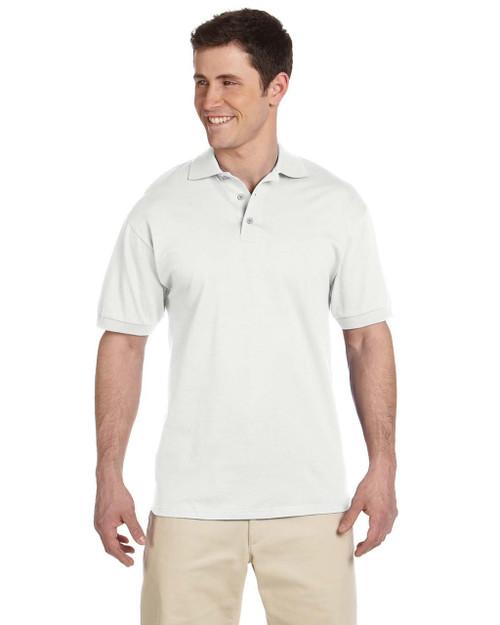 MAROON J100 Heavyweight Cotton Jersey Polo Jerzees 6.1 oz