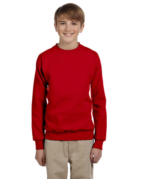 P360 Youth 7.8-Ounce Sweatshirt Red M Hanes ComfortBlend