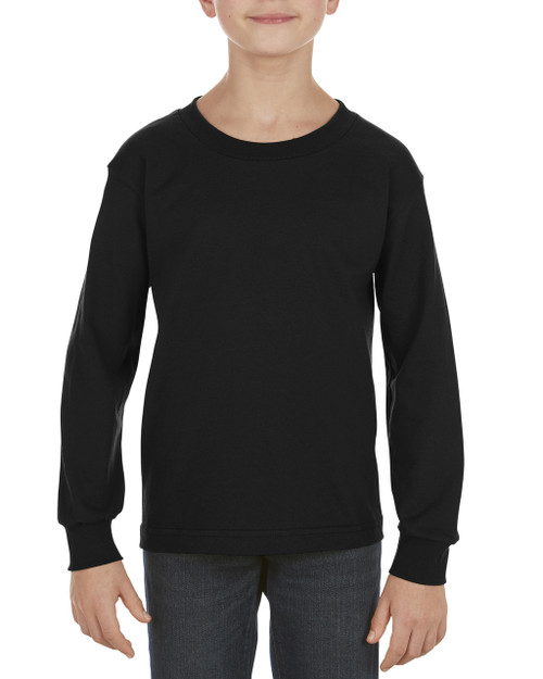 55e4e31c056c Alstyle AL3384 Youth 6.0 oz., 100% Cotton Long-Sleeve T-Shirt ...
