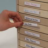 Labeled craft room drawer cabinet storage organization