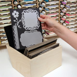 Craft room magnet cards for wafer die