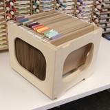Paper crate for art studio craft paper storage