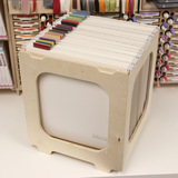 Paper crate for craft room paper storage