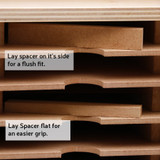 Ink pad storage spacers for Stampin' Up