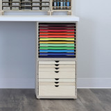 Paper and craft organization for IKEA tabletops