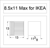 8.5x11 Max for IKEA