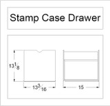 Stamp Case Drawer Cabinet