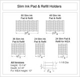 Slim Ink Pad & Refill Holder