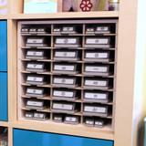 Lock-Down Punch Holder for IKEA® fits great in an IKEA® Kallax.