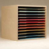 The 12x12 Paper Holder is an excellent option for your paper storage. It keeps all of your paper stored in an easily accessible manner. You can also stack them for more paper storage.