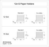12x12 Paper Holders