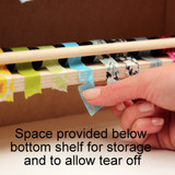 You'll be able to easily find the end of each roll of washi tape when you need it next.