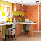 Colorful Craft Rooms