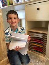 The Little Boy With Paper Joy!