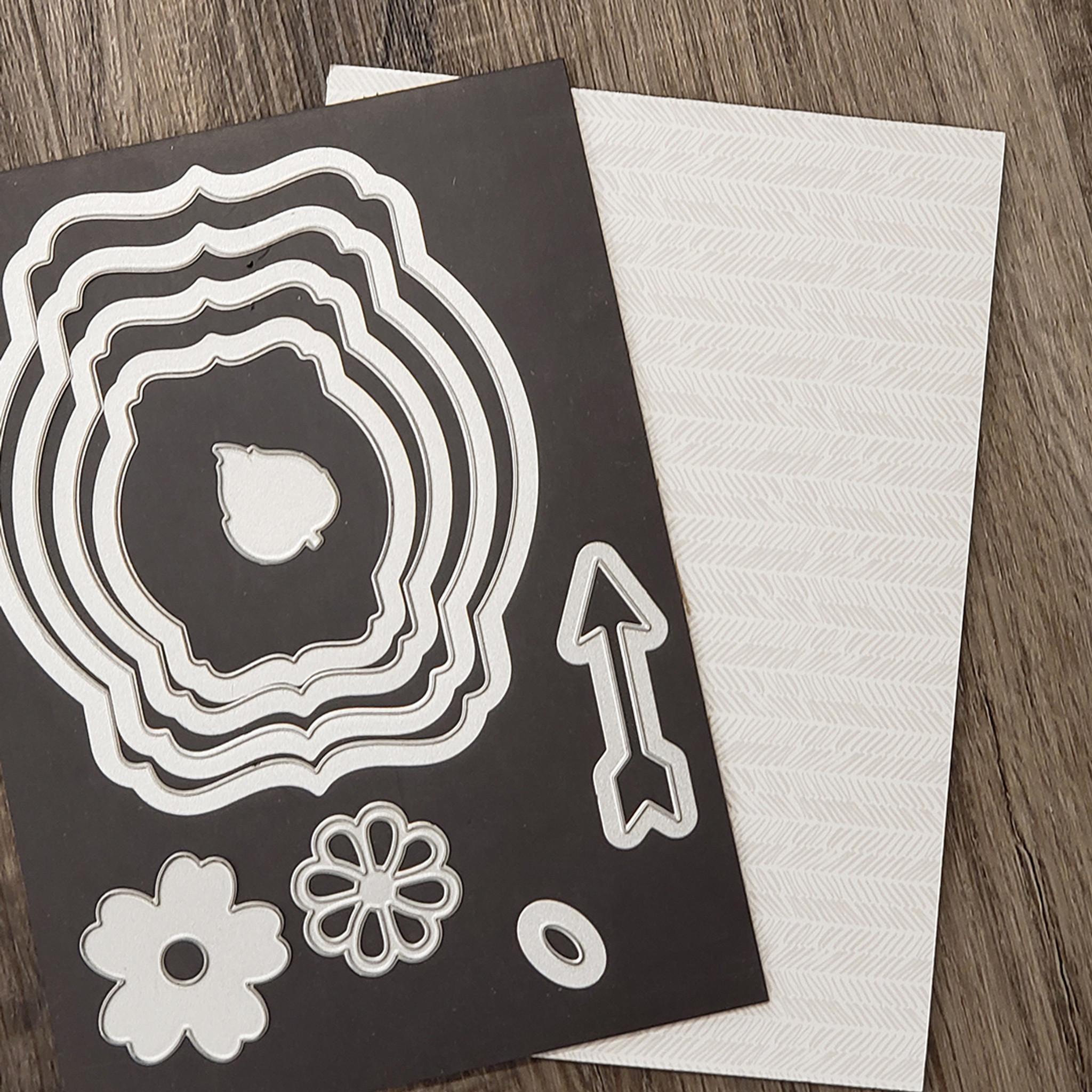 Cutting Die Transport by First Edition Craft Steel Dies Set 7 die per set with free magnetic storage sheet Card Making Paper Craft