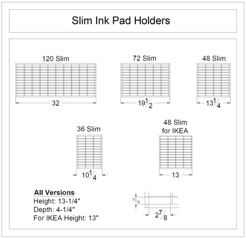 Slim Ink Pad Holder