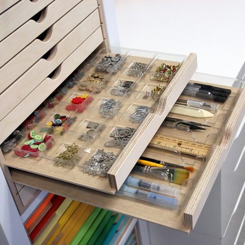 Accessory tray for craft embellishment storage