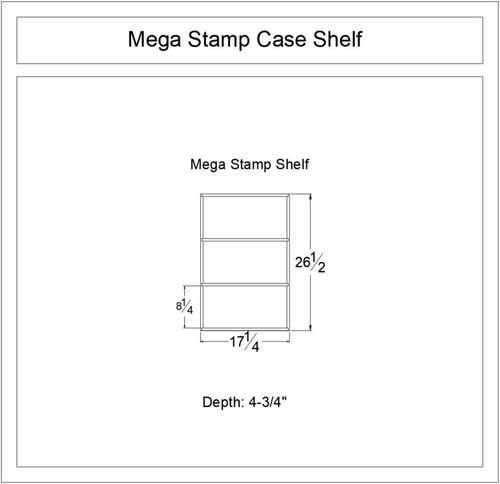 Mega Stamp Case Shelf