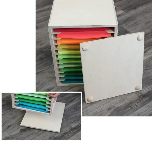 Craft paper desk storage