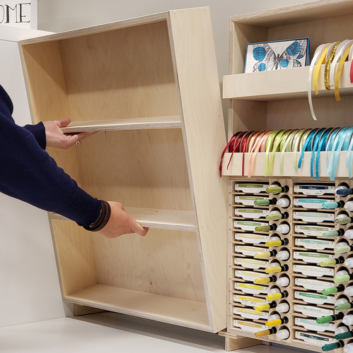 Custom stamp storage shelving