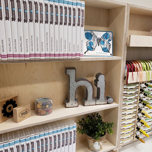 Custom shelf for craft stamp containers