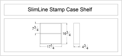 SlimLine Stamp Case Shelf