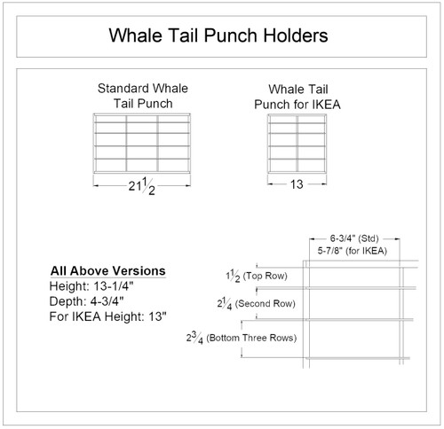 Whale-Tail Punch Holder