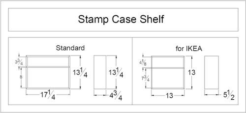 Stamp Case Shelf