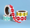 "1.5"" Diam. Circle Thermal Transfer Preprinted Number Four Label Rolls 3"" Core"