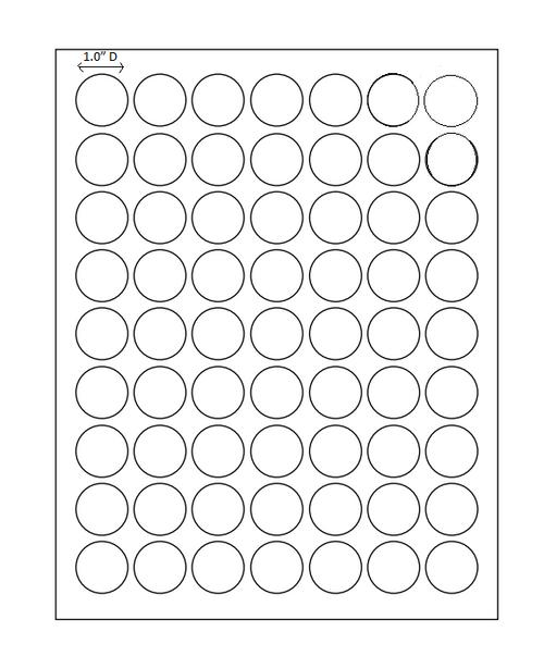 """1"""" Diam.Circle Permanent Adhesive Circle Laser Sheets"""