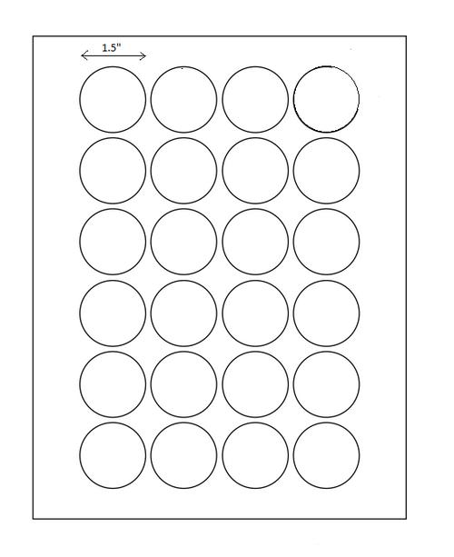 """1.5"""" Diam. Circle Permanent Adhesive Circle Laser Sheets"""