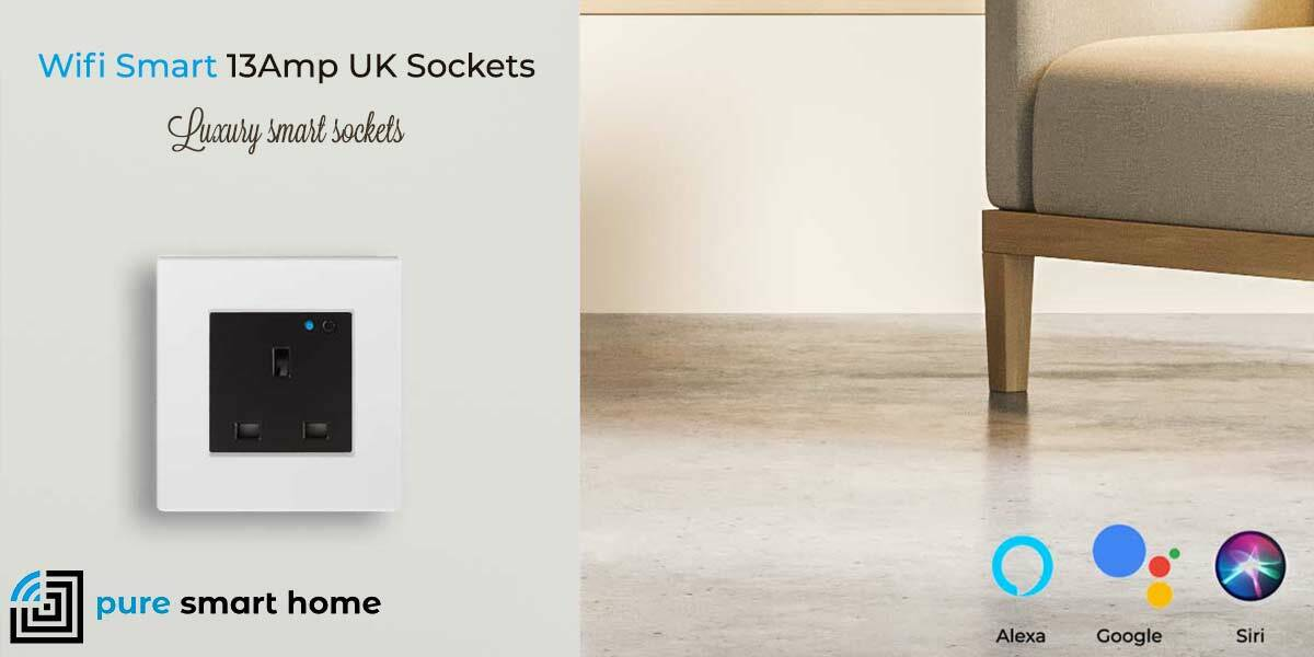 Pure Glass Wifi Smart 13Amp Sockets