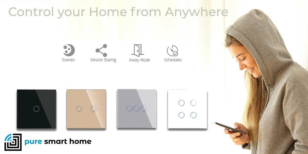 Pure Glass Wifi Smart Light Switches