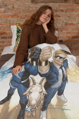 Quantum and Woody - Fleece Blanket 60x80
