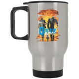 Quantum and Woody 6 - Stainless Travel Mug