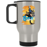 Quantum and Woody 7 - Stainless Travel Mug