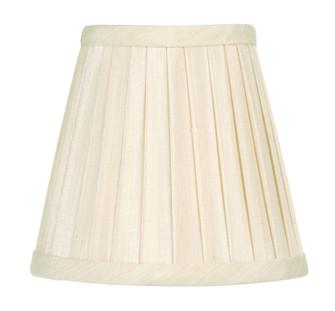 Off White Pleat Empire Silk Clip Shade (108 S316)