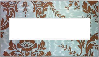 Custom Wall Plate, 4-Gang, White Trim (1452|AWM4GW4)