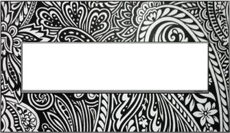 Custom Wall Plate, 4-Gang, Magnesium Trim (1452|AWM4GM4)