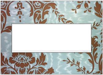 Custom Wall Plate, 3-Gang, White Trim (1452|AWM3GW4)