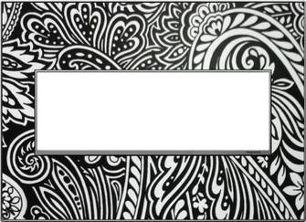 Custom Wall Plate, 3-Gang, Magnesium Trim (1452|AWM3GM4)